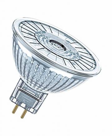 OSRAM LED STAR MR16 12 V / LED-Reflektorlampe, MR16, für Niedervoltbetrieb, mit Stecksockel: GU5.3, 2,90 W, 12 V, 20-W-Ersatz, Ausstrahlungswinkel: 36 °, warmweiß, 2700 K,1er-Pack -