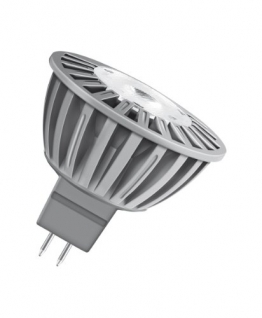 Osram LED Superstar MR16 5W entspricht 35 W, Sockel Gu5,3, 12 Volt, Reflektorlampenform, 50 mm, 24° dimmbar, 850 cd, warmton (830) 682703 -