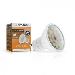 SEBSON GU10 LED 5W Lampe - vgl. 40W Halogen - 380 Lumen - GU10 LED warmweiß - LED Leuchtmittel 110° - 230V -